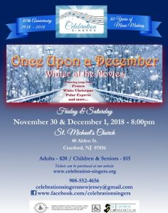 "Celebration Singers Winter Concert ""Once Upon A December"" @ St. Michael 's Church 