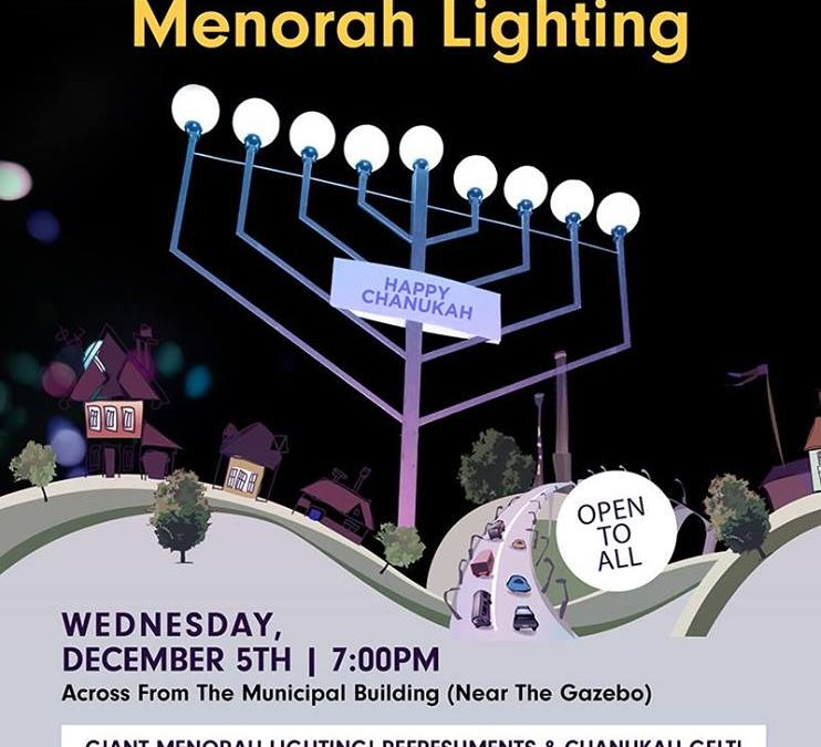 Cranford Menorah Lighting!