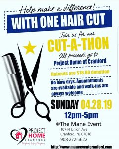 Annual Cut a Thon for Cranford Family Care and Project Home @ THE MANE EVENT SALON | Cranford | New Jersey | United States