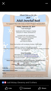 Adult Snowball Bash to Support Project Graduation @ Kenilworth VFW | Kenilworth | New Jersey | United States