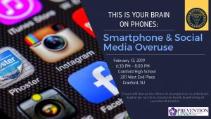 This is Your Brain on Phones: Smartphone & Social Media Overuse @ Cranford High School  | Cranford | New Jersey | United States