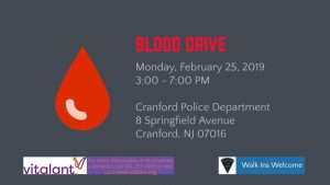 CPD Blood Drive @ Cranford Police Department  | Cranford | New Jersey | United States