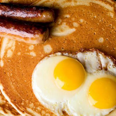 Pancake, Egg & Sausage Breakfast