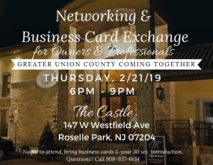 Free Business Card Exchange & Networking Event @ The Castle - NJ | Roselle Park | New Jersey | United States