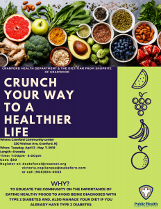 CRUNCH YOUR WAY TO A HEALTHIER LIFE @ Cranford Community Center | Cranford | New Jersey | United States