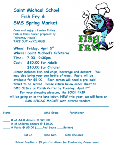 SMS SPRING MARKET and FISH FRY! @ St Michael's Cafeteria | Cranford | New Jersey | United States