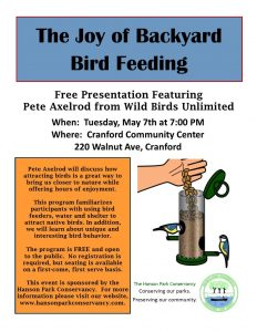 The Joy of Backyard Bird Feeding @ Cranford Community Center | Cranford | New Jersey | United States