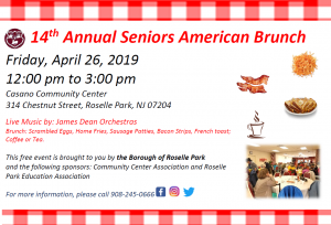 14th Annual Seniors American Brunch @ Casano Community Center | Roselle Park | New Jersey | United States