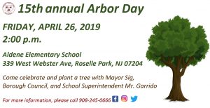 15th Annual Arbor Day @ Aldene Elementary School | Roselle Park | New Jersey | United States