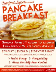 Cranford Jaycees Pancake Breakfast @ Cranford VFW | Cranford | New Jersey | United States