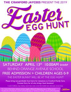 Cranford Jaycees 2019 Annual Easter Egg Hunt @ Orange Avenue School | Cranford | New Jersey | United States
