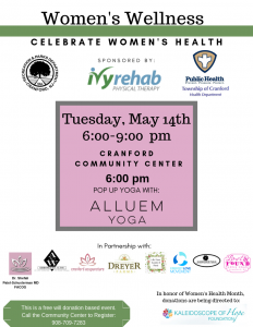 Pop Up Yoga with Alluem @ Cranford Community Center | Cranford | New Jersey | United States