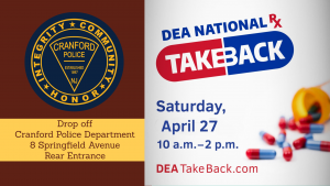 Operation Take Back @ Cranford Police Department | Cranford | New Jersey | United States