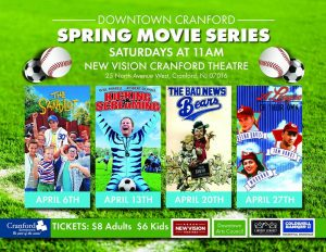 Downtown Cranford Spring Movie Series @ Cranford Theater | Cranford | New Jersey | United States