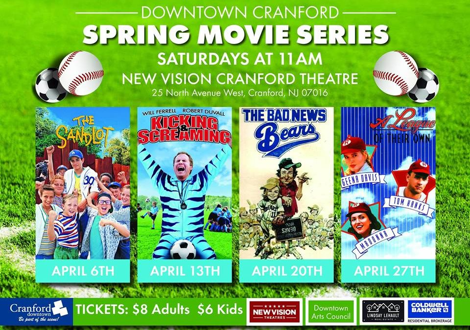 Downtown Cranford Spring Movie Series