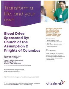 BLOOD DRIVE @ Church of the Assumption | Roselle Park | New Jersey | United States