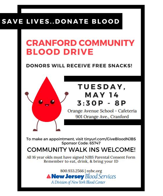 CRANFORD COMMUNITY BLOOD DRIVE