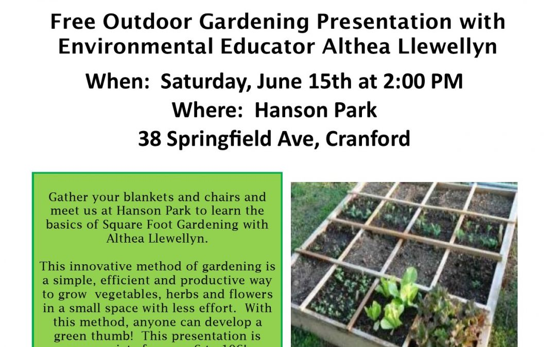 Square Foot Gardening At Hanson Park