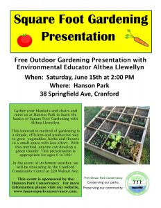 Square Foot Gardening At Hanson Park @ Hanson Park | Cranford | New Jersey | United States