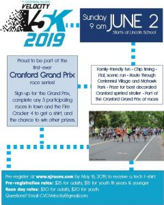 9th Annual Velocity 5k @ Starts at Lincoln School | Cranford | New Jersey | United States