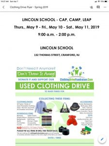 Lincoln School Used Clothing Drive @ Lincoln School | Cranford | New Jersey | United States