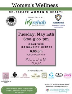 Free Women's Wellness @ Cranford Community Center | Cranford | New Jersey | United States