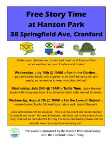 Story Time At Hanson Park | Cranford Online