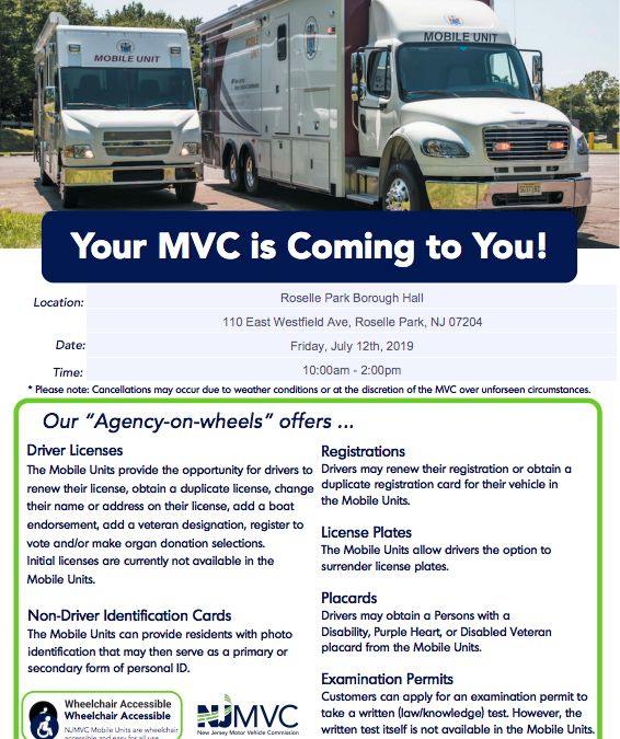 New Jersey Motor Vehicle Commission Mobile Unit