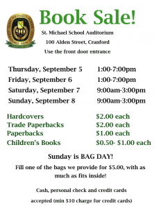 St. Michael School Book Sale @ St. Michael School | Cranford | New Jersey | United States