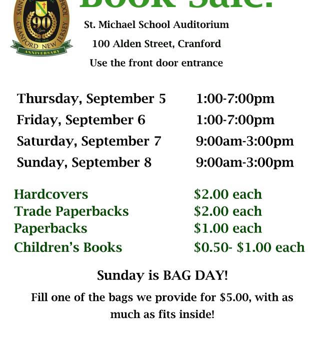 St. Michael School Book Sale