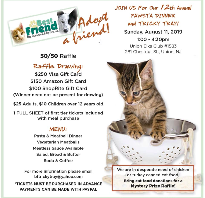 Pawsta Dinner and Tricky Tray for Best Friend Animal Adoption