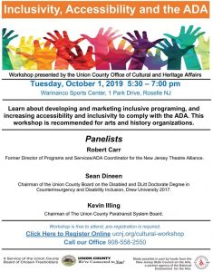 Union County Non-Profits Invited to Free ADA Workshop @ Warinanco Park | Roselle | New Jersey | United States