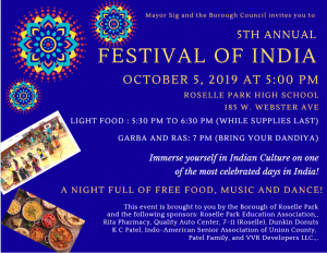 5th Annual Festival of India @ Roselle Park High School | Roselle Park | New Jersey | United States