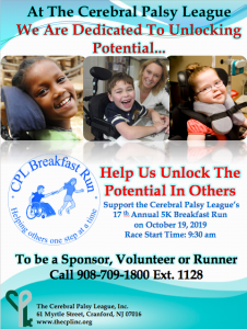 CPL Breakfast Run @ The Cerebral Palsy League | Cranford | New Jersey | United States