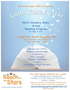 Little Literacy Program @ Reach for the Stars | Cranford | New Jersey | United States