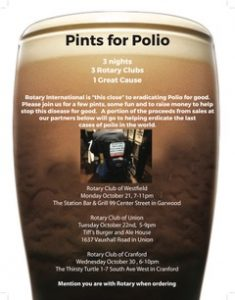Pints for Polio! @ Thirsty Turtle | Cranford | New Jersey | United States