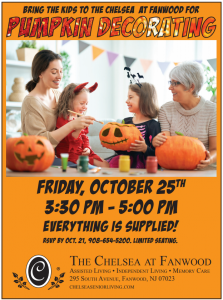 Pumpkin Decorating at The Chelsea @ The Chelsea at Fanwood | Fanwood | New Jersey | United States