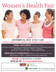 Union County Women's Health Fair @ Liberty Hall Center | Union | New Jersey | United States