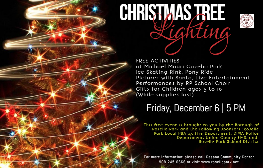 Borough of Roselle Park Annual Christmas Tree Lighting Ceremony