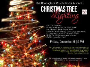 Borough of Roselle Park Annual Christmas Tree Lighting Ceremony @ Michael Mauri Gazebo Park | Roselle Park | New Jersey | United States