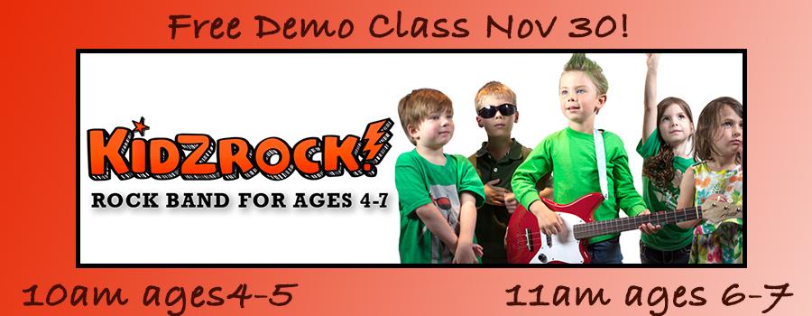 KidzRock Demo Class 6-7 Year Olds