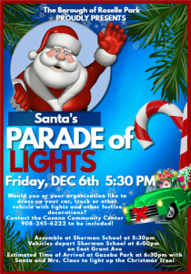 Santa's Parade of Lights @ Michael Mauri Gazebo Park | Roselle Park | New Jersey | United States