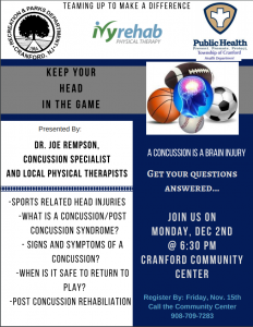 Concussion Workshop @ Cranford Community Center