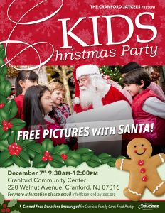 Cranford Jaycees Kids Holiday Party @ Cranford Community Center