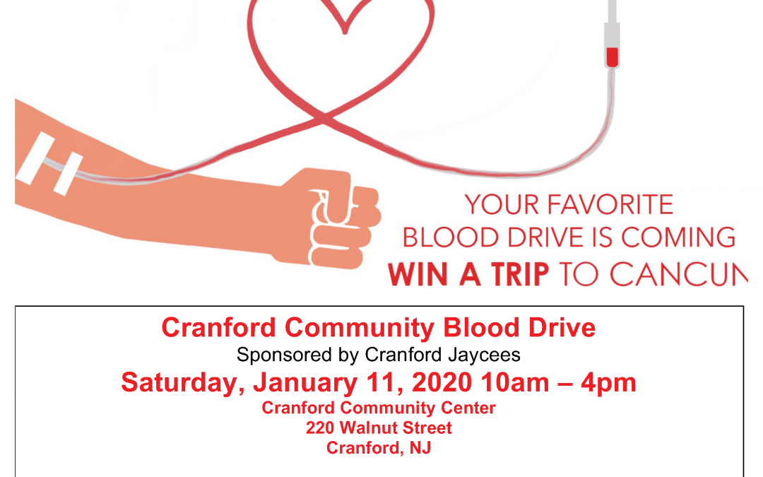 Cranford Community Blood Drive Sponsored by Cranford Jaycees