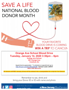 Orange Ave School Blood Drive @ Orange Ave School | Cranford | New Jersey | United States
