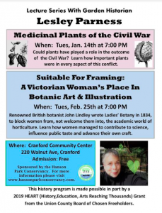 """Medicinal Plants of the Civil War"" @ Cranford Community Center"