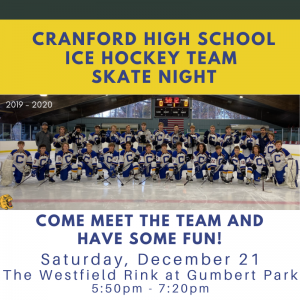 Skate Night with the Cranford High School Hockey Team @ The Westfield Rink at Gumbert Park | Roselle | New Jersey | United States