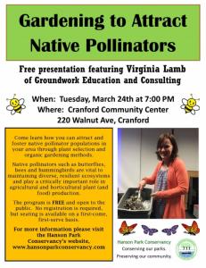 Gardening to Attract Native Pollinators @ Cranford Community Center