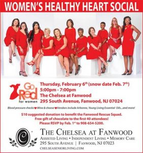 Women's Healthy Heart Social @ The Chelsea at Fanwood
